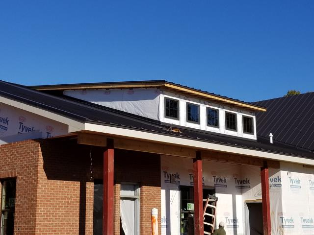 Fort Mill, SC - CMP Metal panels on new construction.