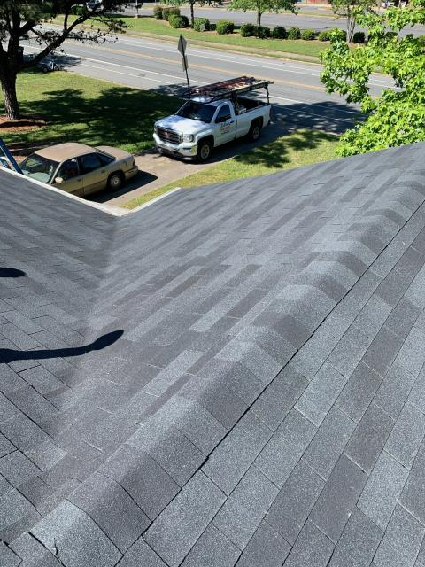 "Charlotte, NC - Roof Replacement using GAF ""Royal Sovereign"" shingles in Charcoal"