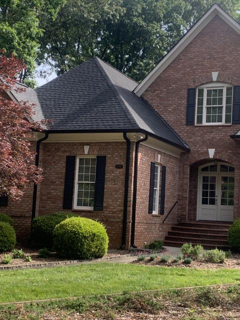 "Charlotte, NC - GAF ""Timberline"" High Definition Architectural shingle in Charcoal.  GAF ""Timberline"" shingles are ""Stain Guard"" protected against Algae and have received the ""Good Housekeeping"" seal of approval"