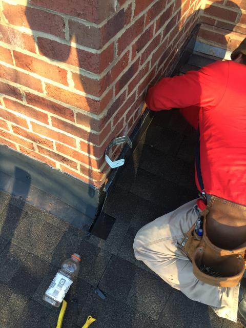 Charlotte, NC - Chimney Flashing repair.  It happens