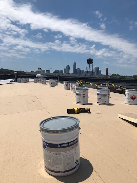 Charlotte, NC - Roof Restoration in process