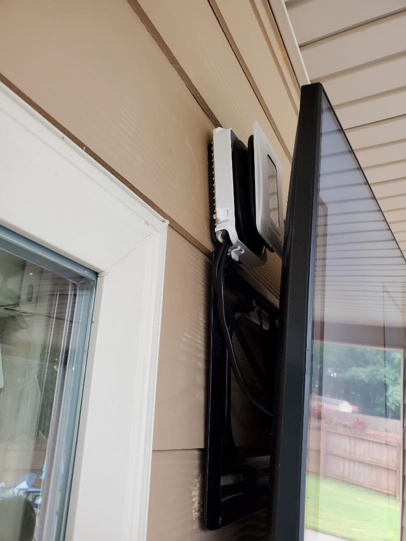 McDonough, GA - Installed an outdoor receptacle for a tv on a customer's patio