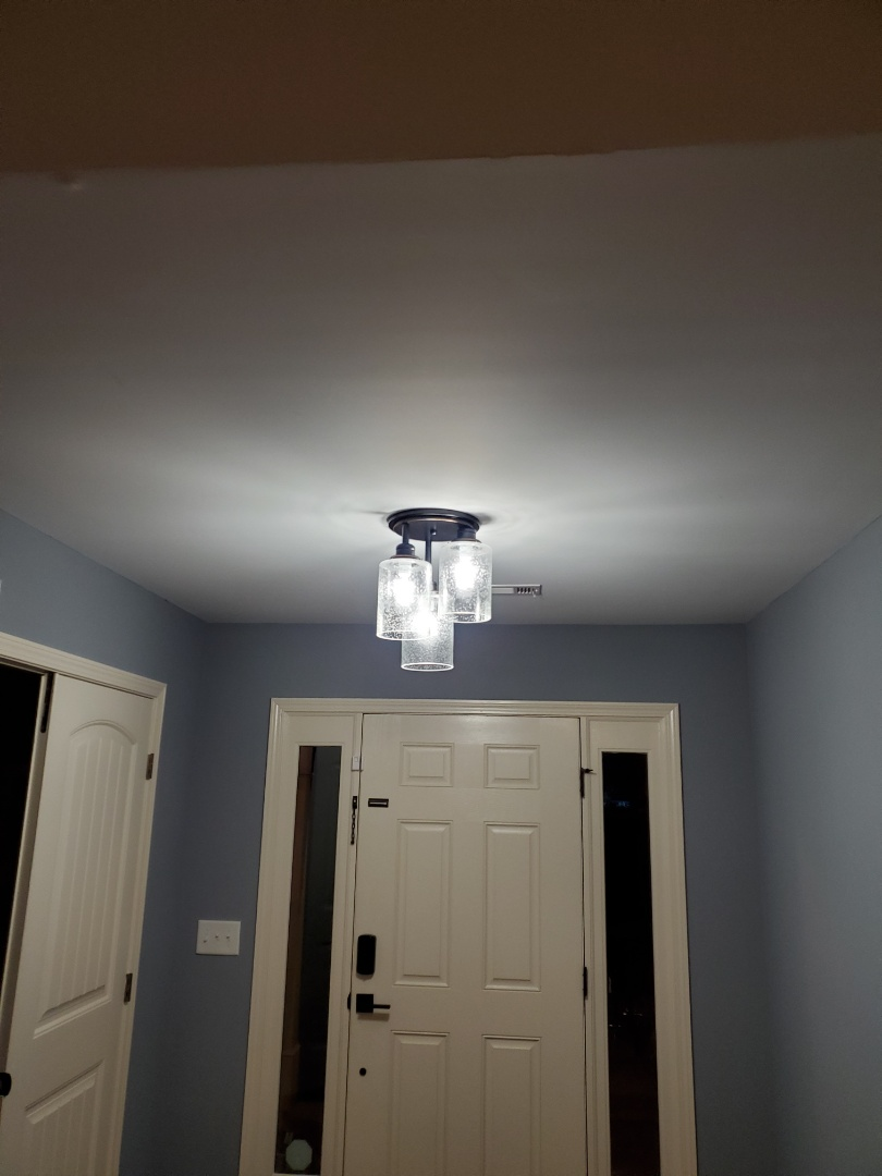 Senoia, GA - Helped a customer with 6 new light fixtures today.