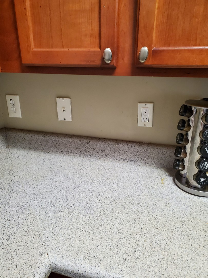 McDonough, GA - Customer had some receptacles in their kitchen and bathroom that weren't working. Found a couple bad GFCIs and another that just needed to be reset.