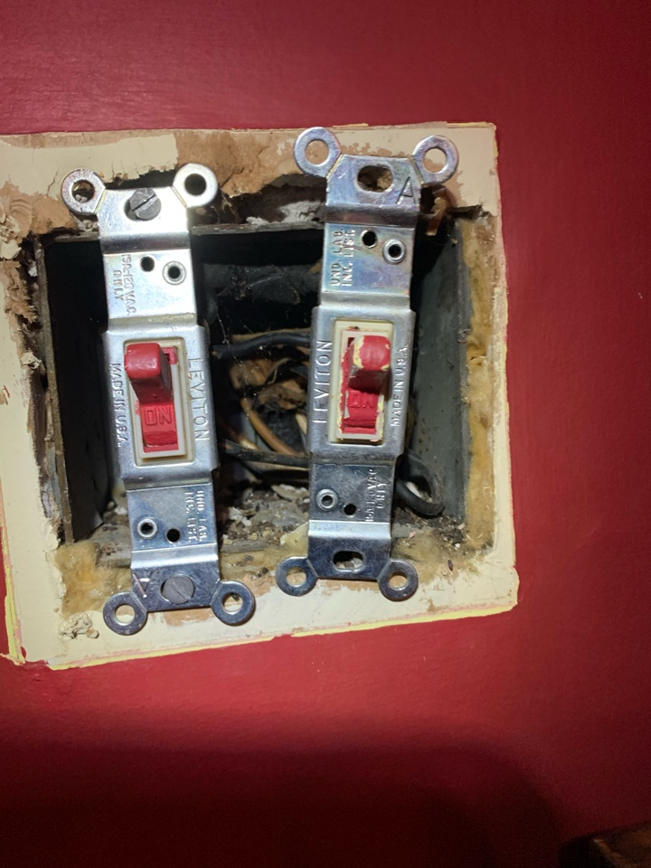 Atlanta, GA - Customer with a 70+ year old house had some wiring issues, if you're in a similar situation give us a call!