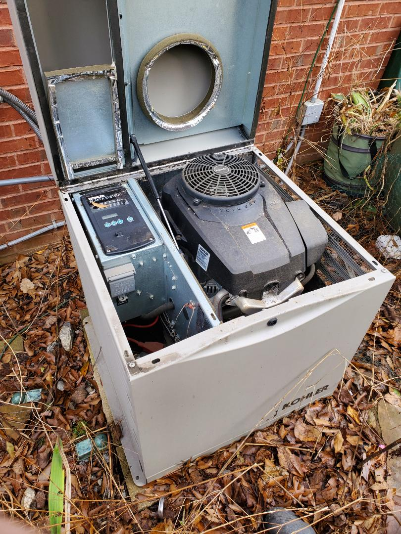 Peachtree City, GA - Gave a customer a quote on updating to a larger generator, to be able to handle the larger load they're house needs.
