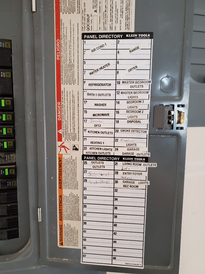 Fairburn, GA - Just re-labeled an electrical panel for a customer.