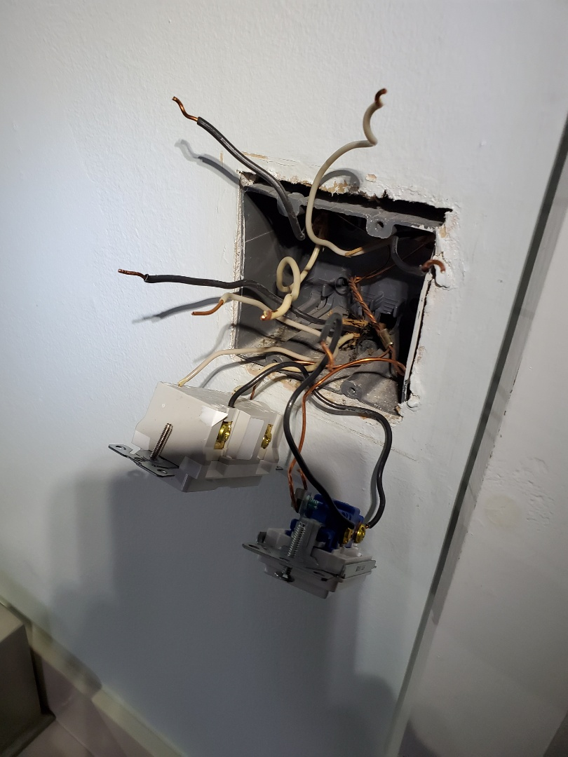 Atlanta, GA - Customer had a GFCI breaker tripping, found a shorted switch from where they changed out their own light switch and receptacles.