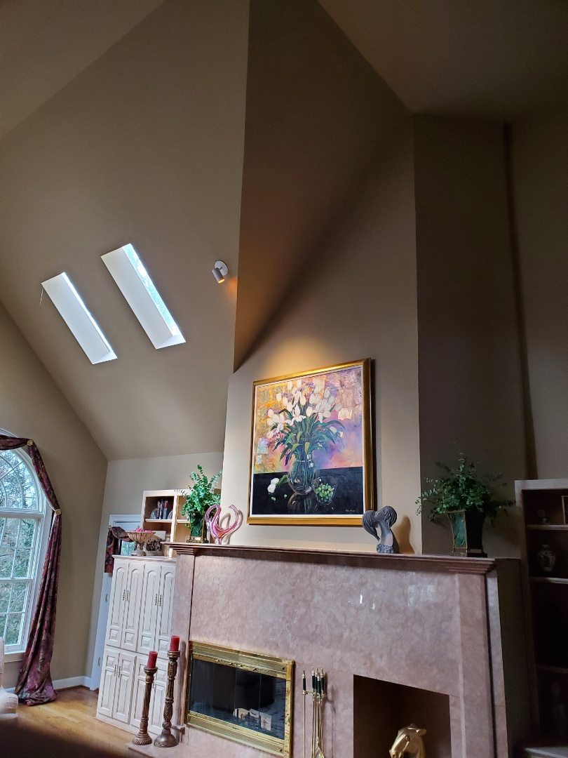 Sandy Springs, GA - Installed a new LED spotlight, over a customer's fireplace for a painting.