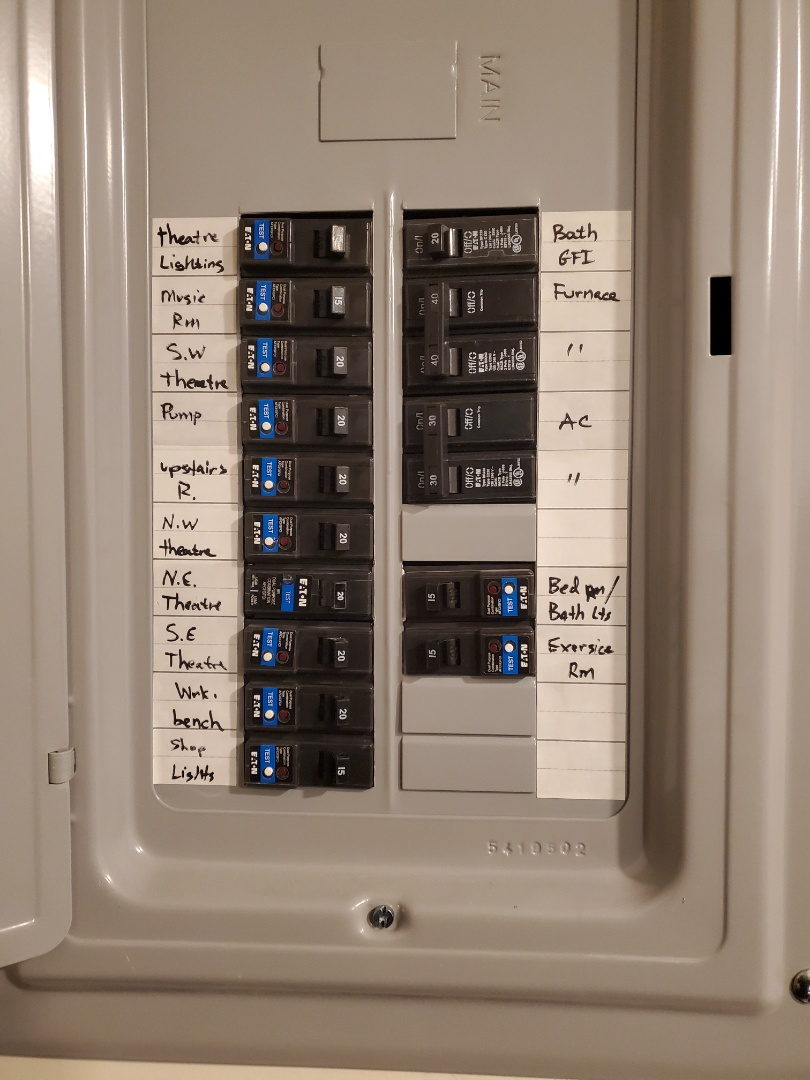 Sharpsburg, GA - Customer had older model Arc fault breaker that was causing a nuisance trip. Got them fixed up with the new version that should fix all their problems.
