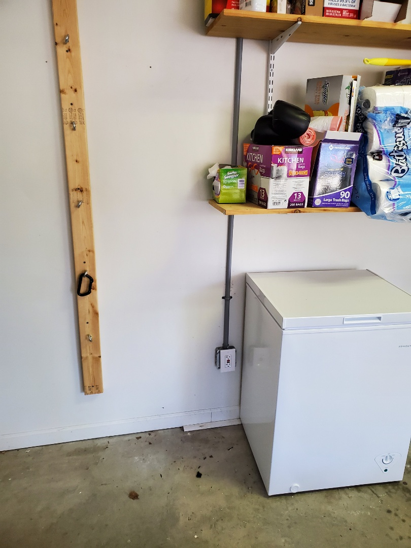 Fayetteville, GA - Installed a garage outlet for a customer's new chest freezer.