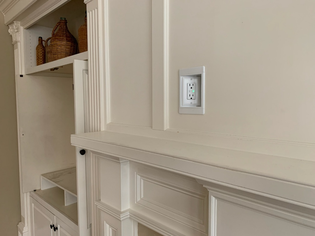 Marietta, GA - Installed a TV receptacle for a customer above a fireplace.