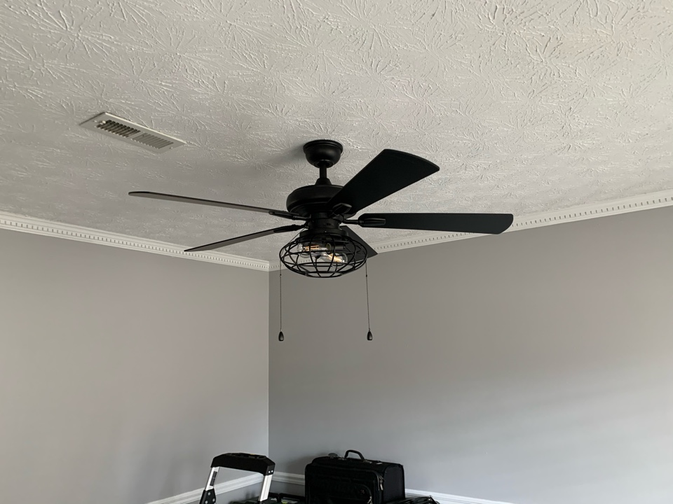 Peachtree City, GA - Installed a ceiling fan for a customer, season change is only right around the corner.