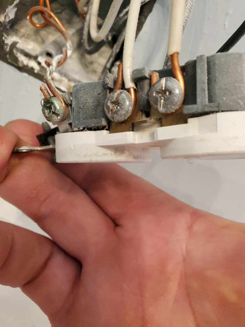 Fayetteville, GA - Customer had a bathroom receptacle that was sparking. ended up replacing the receptacle, and adding GFCI protection for her bathrooms.