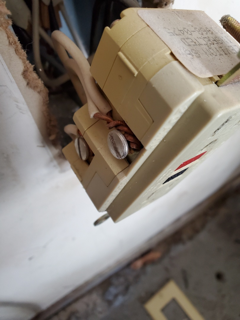 Peachtree City, GA - Customer had a curling iron that was causing issues on some of the circuits in their home. Found a GFCI that did not have a good connection to its load wires.