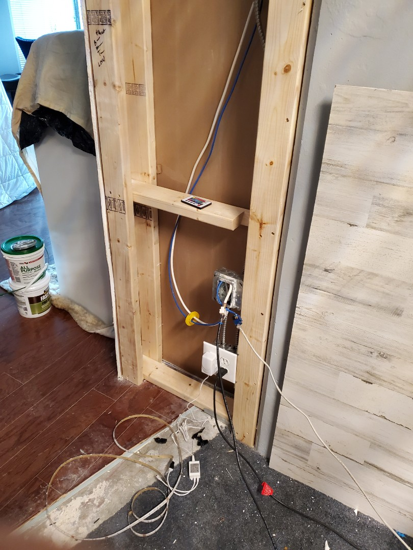 Marietta, GA - Relocated a receptacle for a customer who is renovating their condo.