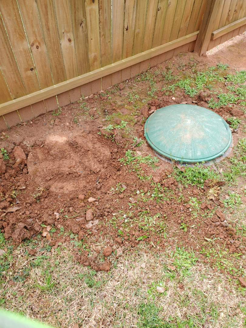 Atlanta, GA - Left customer quote to run a new circuit with a GFCI protected outlet for their septic system pumps. Old ones are running underground and no access to repair.