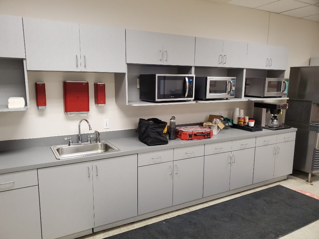 Fairburn, GA - Replace some GFCI receptacles in a company's break room that had been damaged by water.