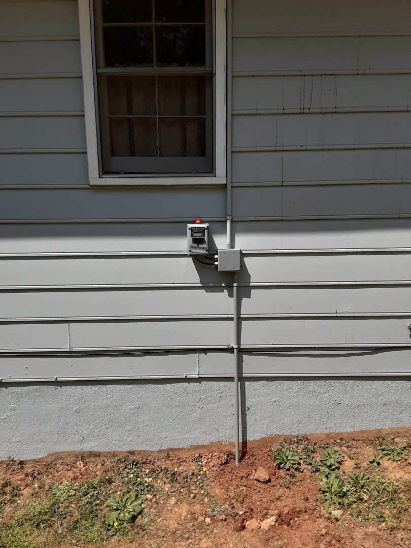 Fayetteville, GA - Rewired an outdoor receptacle  for a customers sump pump.
