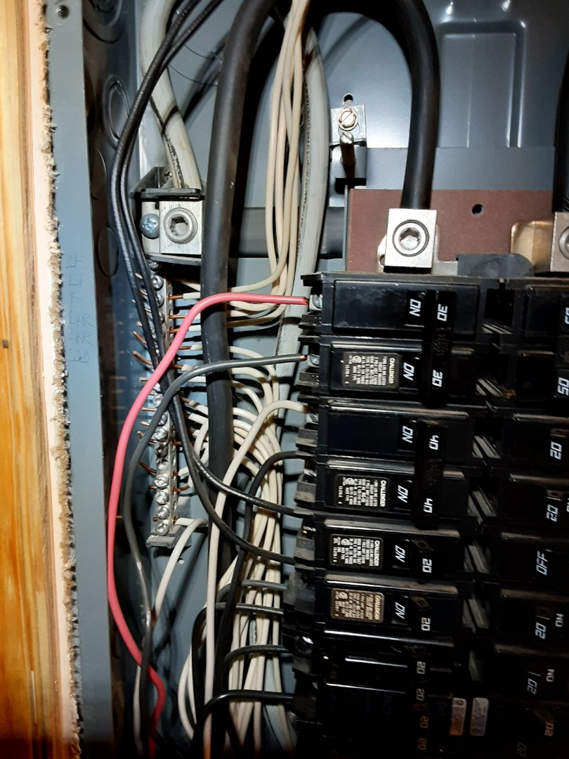 Jonesboro, GA - Did a oanel rejuvenation and cleaned up some neutral wires in a breaker panel.
