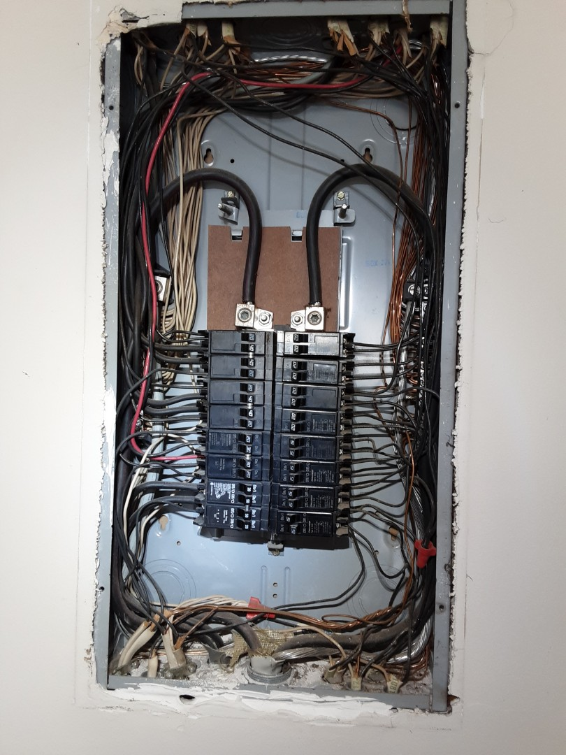 Fayetteville, GA - Gave an estimate to replace a panel for a customer.  Current one is stuffed full and has a few unsafe conditions.