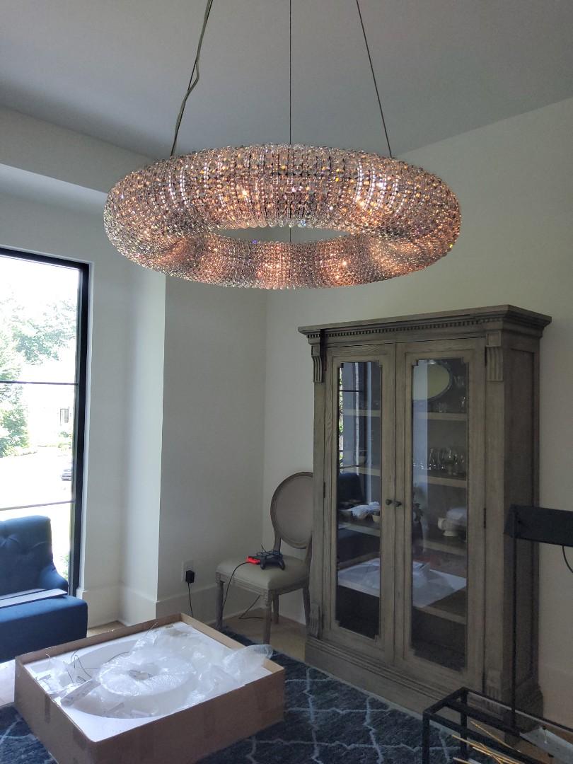 Newnan, GA - Installed lighting