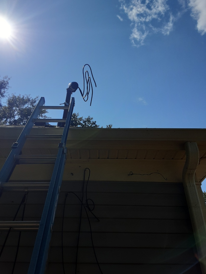 Newnan, GA - Replaced the overhead riser wire for a customer that had a tree fall and break their line.
