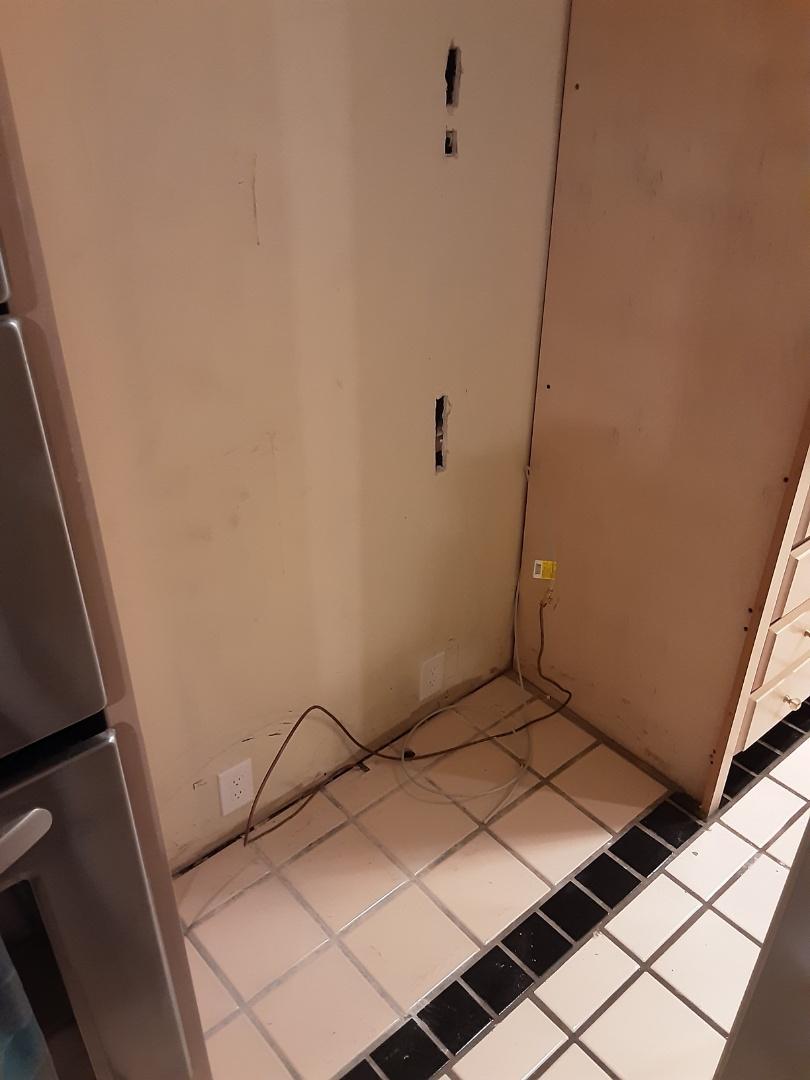 Atlanta, GA - Installed a couple new receptacles for a new built in subzero refrigerator