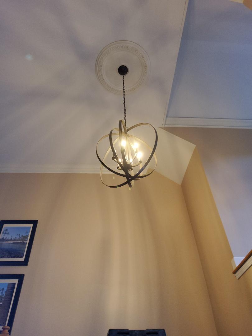 Fayetteville, GA - Installing foyer light fixture