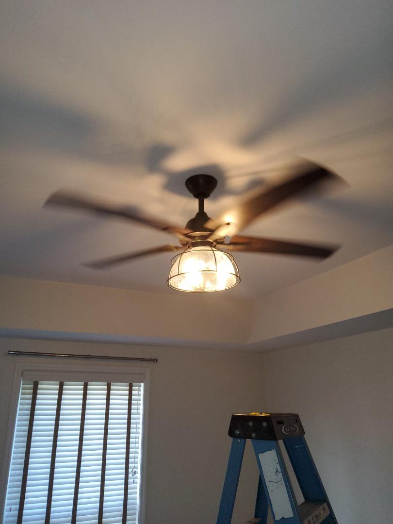 Atlanta, GA - Installing ceiling fan