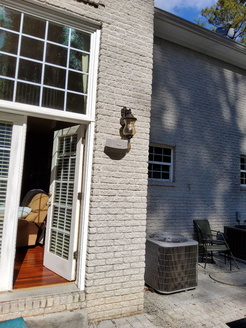 Atlanta, GA - It installed some new outdoor sconces, and moved the older ones to a different location in the customer's home