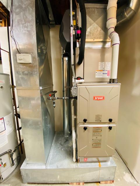 Bellwood, IL - Serviced furnace and repaired ductwork.
