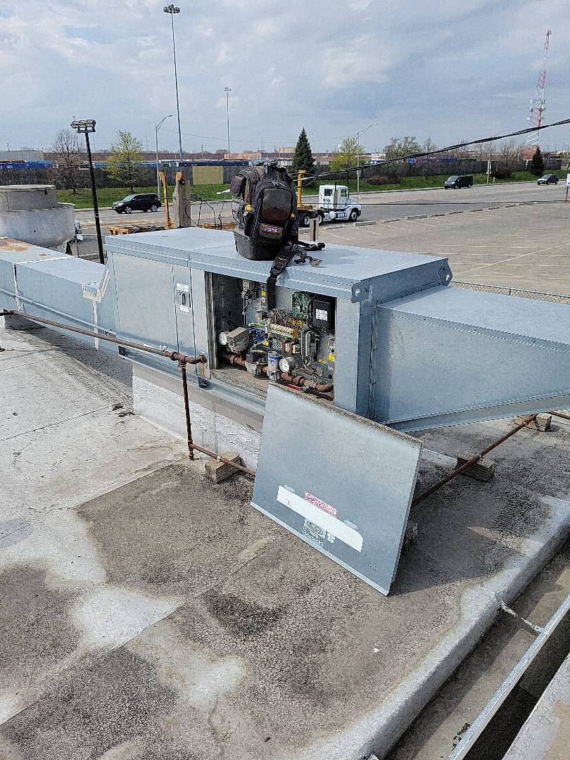 Stone Park, IL - Make Up Air Unit Repair.