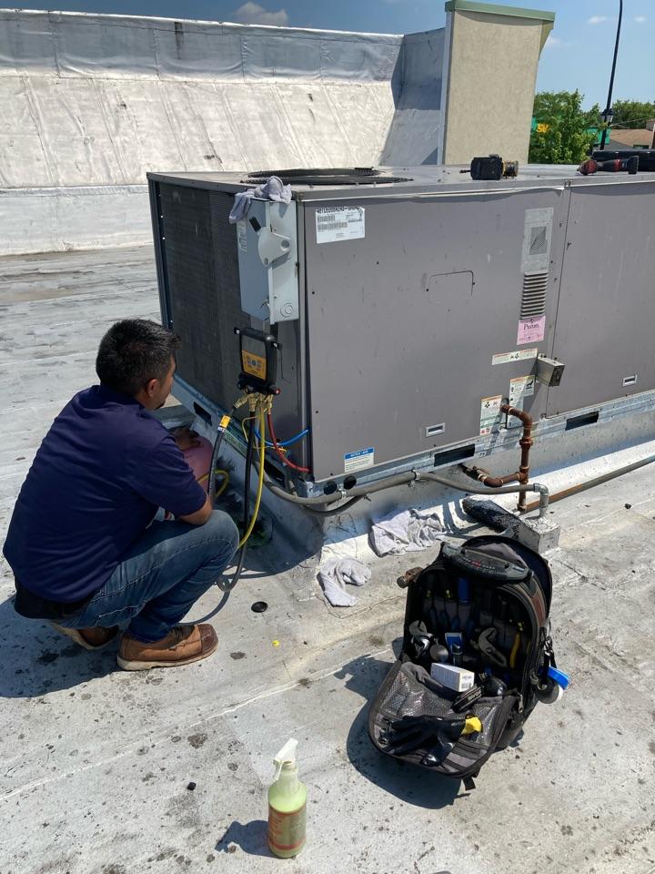 Addison, IL - A/C compressor replacement in commercial unit.