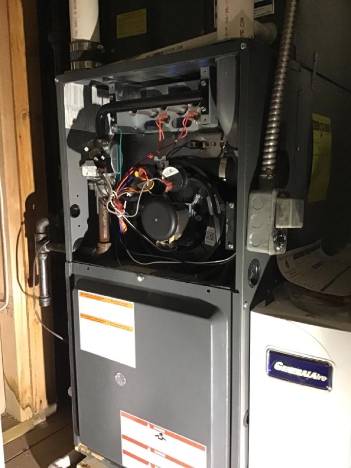 Temperance, MI - Heating  service on a Goodman furnace, performed an annual furnace maintenance.