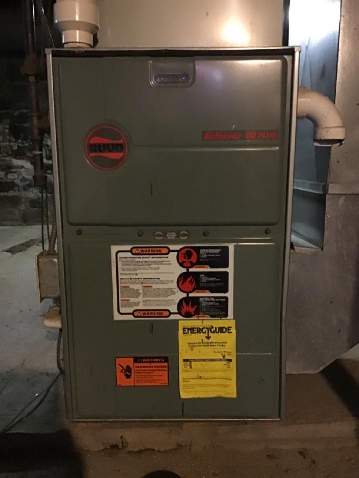 Dundee, MI - Heat repair on a Ruud furnace.