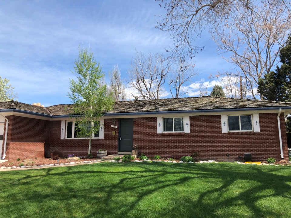 Littleton, CO - Roof evaluation. Remove old wood shake and replace with dimensional shingle.