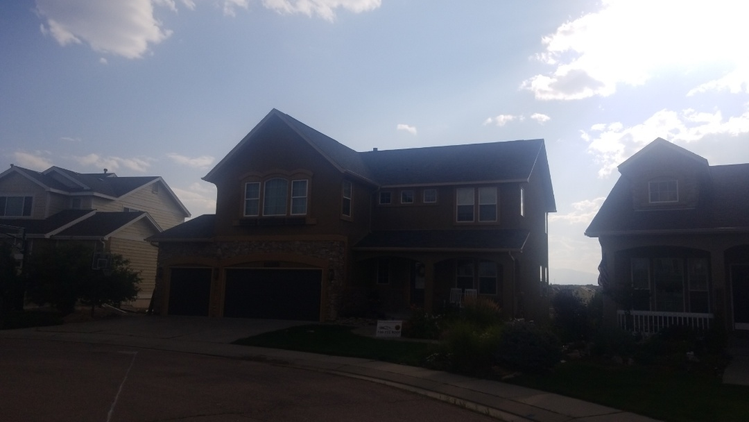 Peyton, CO - Completed a reroof in Peyton Colorado with Malarkey Legacy in Storm Gray.