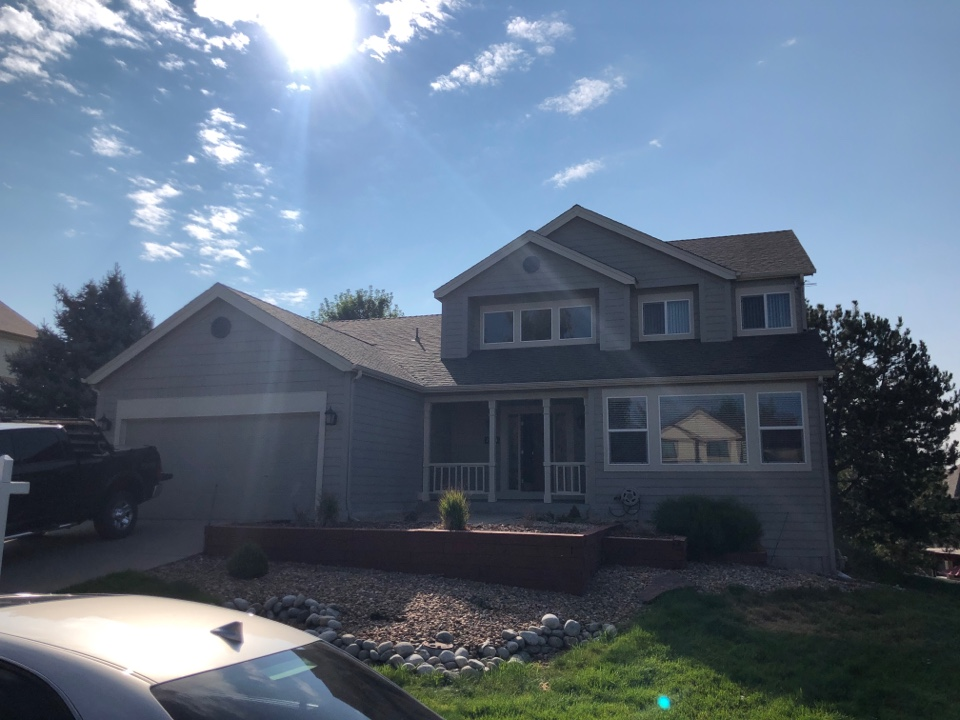 Parker, CO - We installed a malarkey legacy asphalt shingle on this property in 2015. A hail storm went through The pinery neighborhood in the last few weeks.As part of our service we will inspect a roof when a customer requests at no charge.