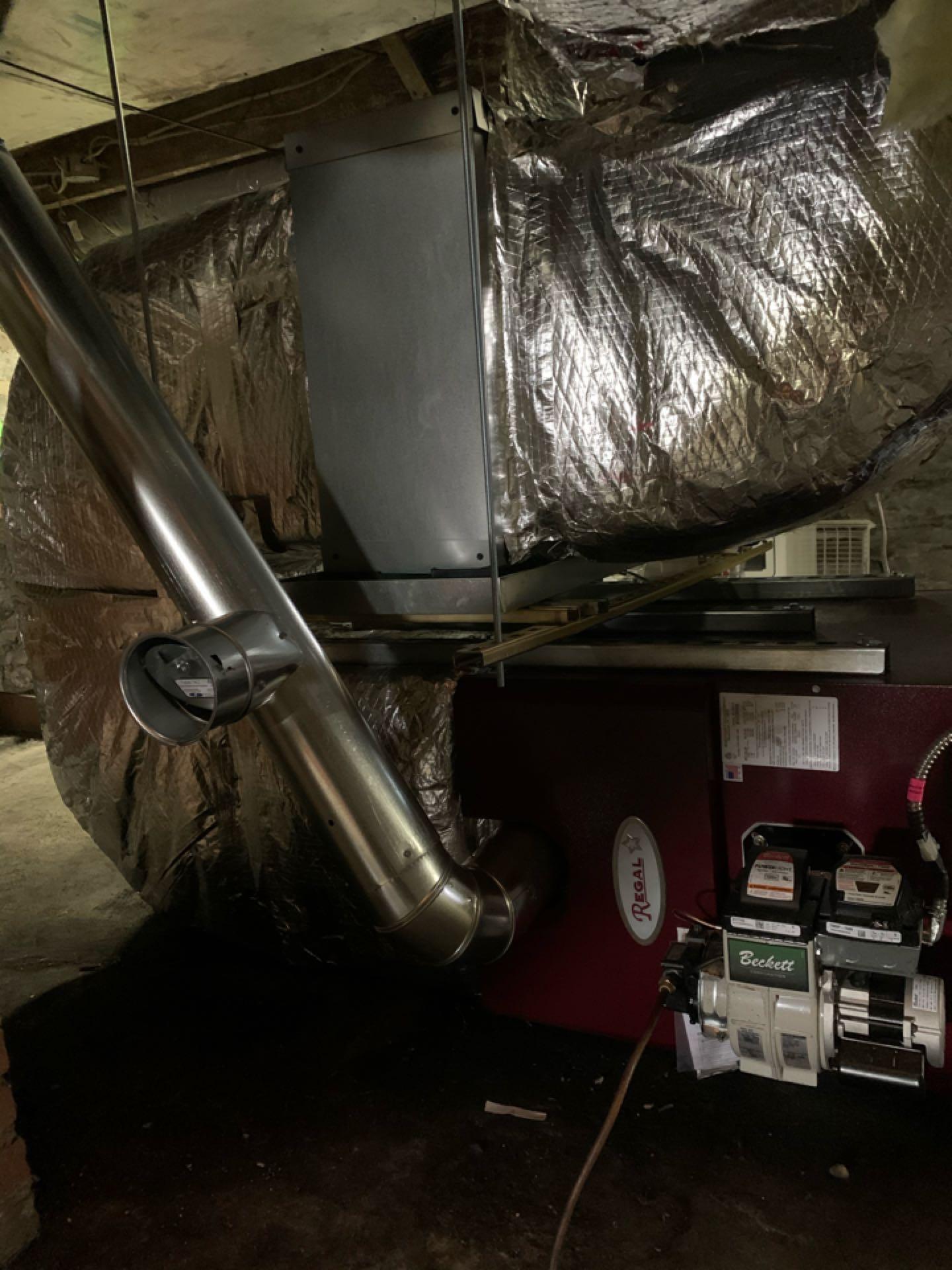 Middletown, VA - Oil Furnace installation Call. Performed Furnace install on Regal Star.