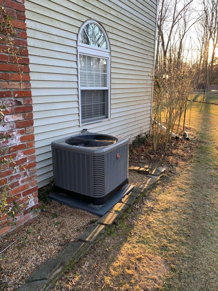 Warrenton, VA - AC installation call. Performed Air Conditioning install on Rheem.