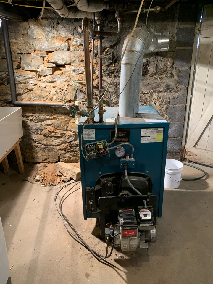 Berryville, VA - Oil boiler service call. Performed oil boiler repair on Burnham.