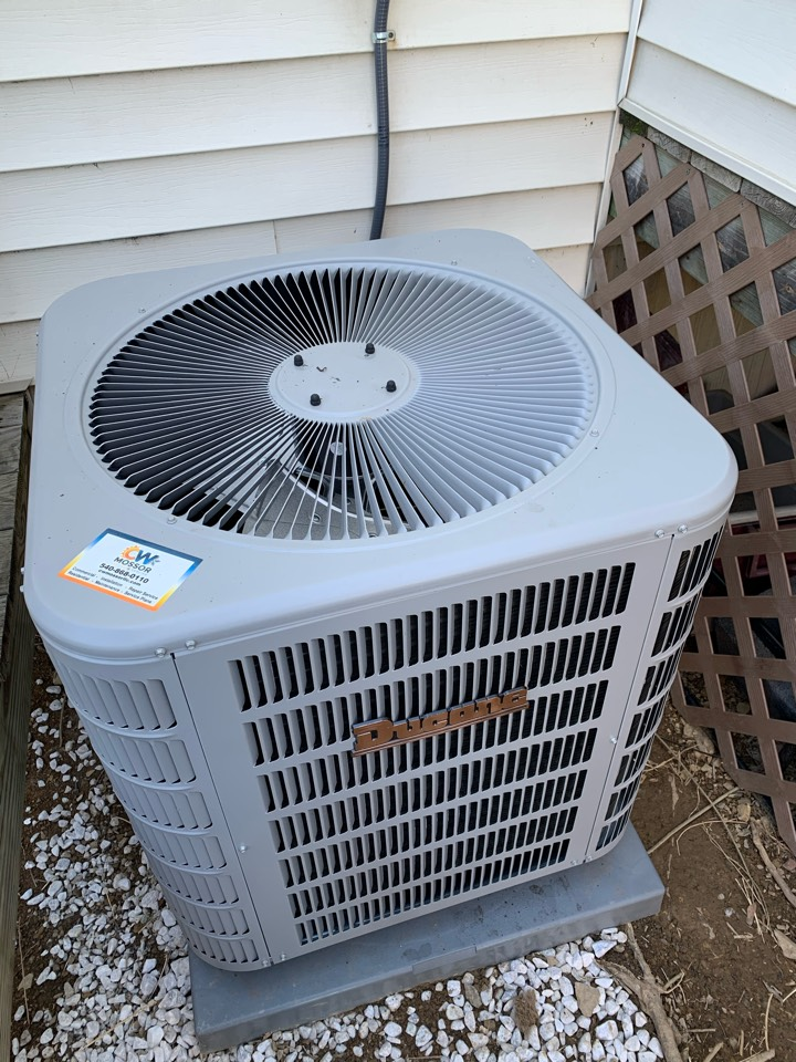 Winchester, VA - AC installation call. Performed Air Conditioning install on Ducane.