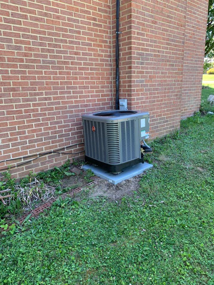Stephens City, VA - Air Conditioning installation call. Performed AC install on Rheem.