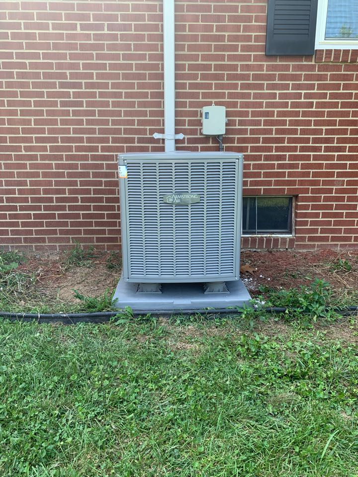 Middletown, VA - Air Conditioning installation call. Performed AC install on Armstrong Air.