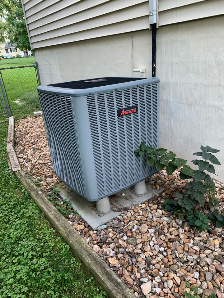 Stephens City, VA - Heat pump maintenance Call. Performed Heat Pump Tune Up on Amana.