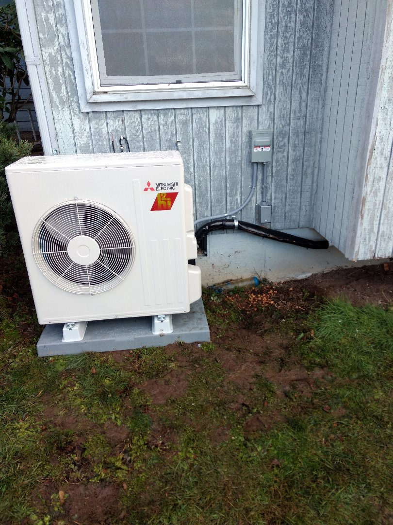 Des Moines, WA - Running new circuit for Mitsubishi ductless heat pump