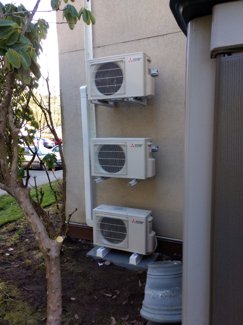 Tacoma, WA - Multiple-unit ductless heat pump installation