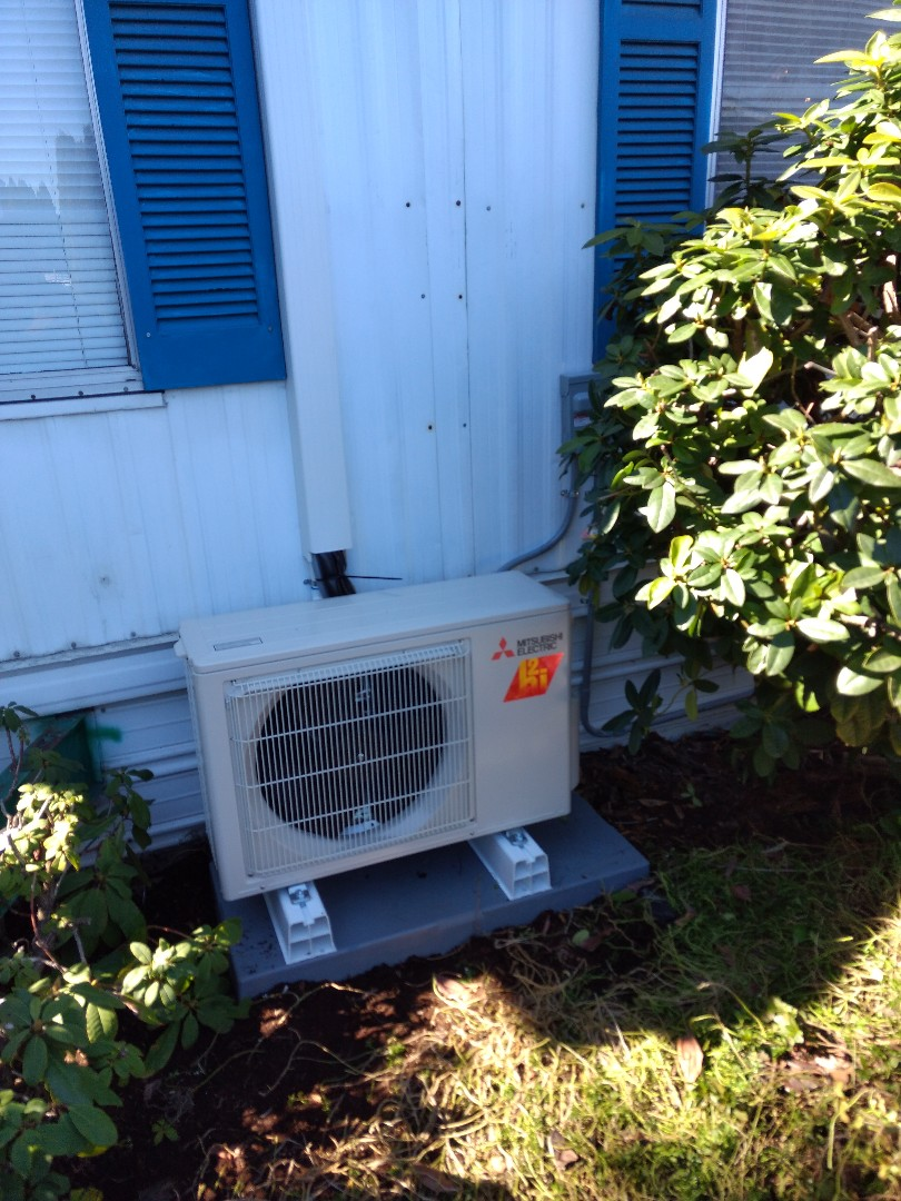 Tacoma, WA - Ductless heat pump installation