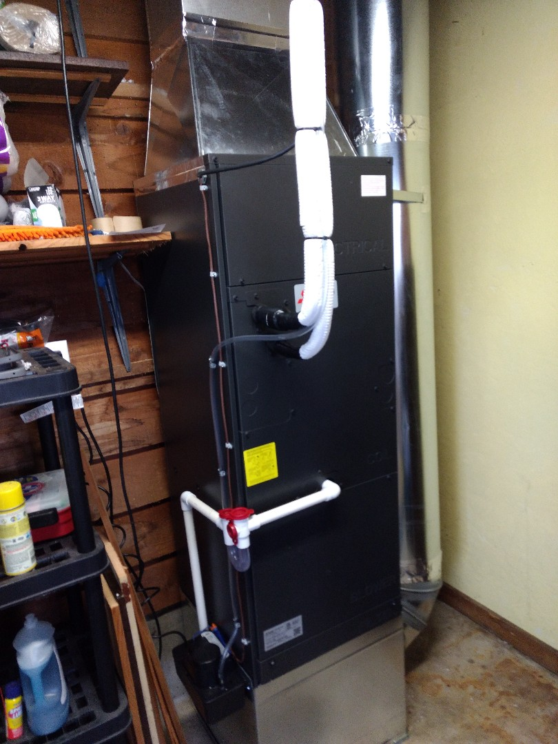 Olympia, WA - Mitsubishi air handler heating and air conditioning unit installation